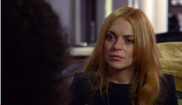 "Lindsay receives words of wisdom from Oprah, including but not limited to, ""Cut the bullshit."""